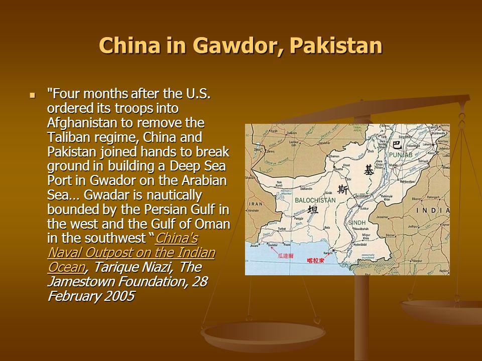China in Gawdor, Pakistan