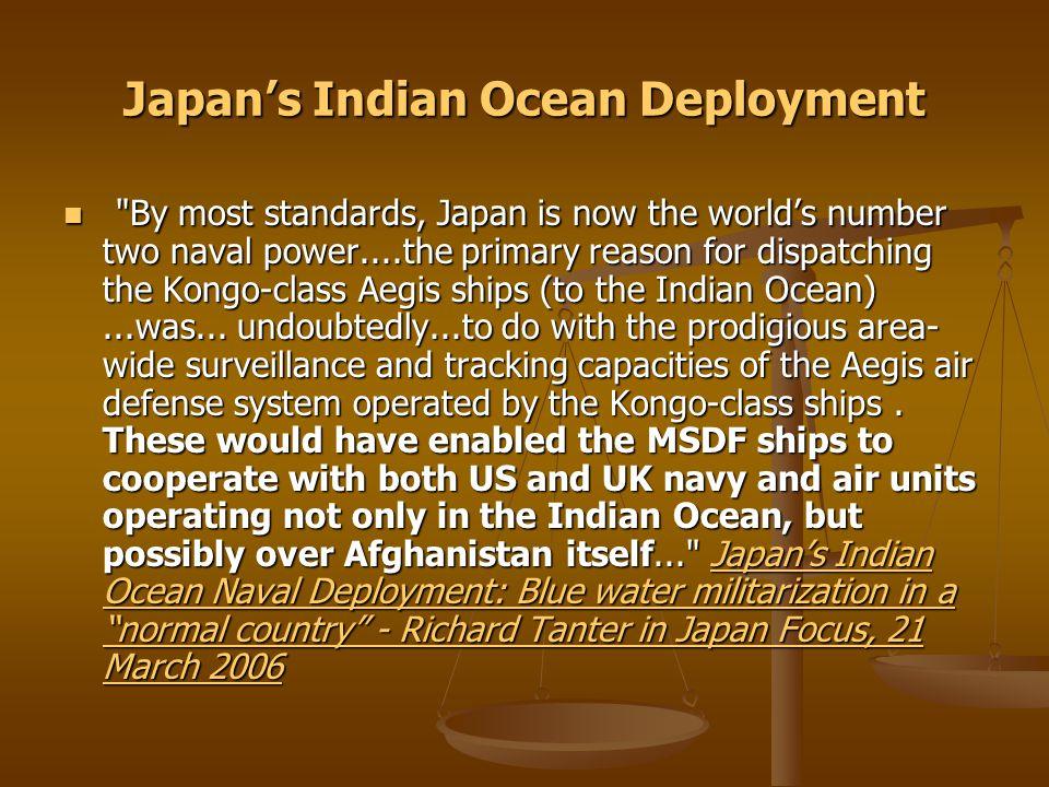 Japan's Indian Ocean Deployment