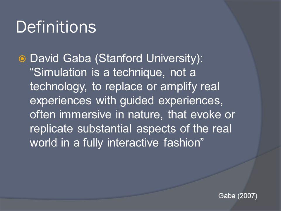 References  DeAnda, A., & Gaba, DM.(1990).