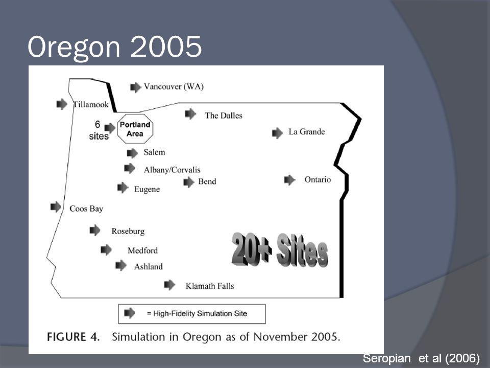 Oregon 2005 Seropian et al (2006)