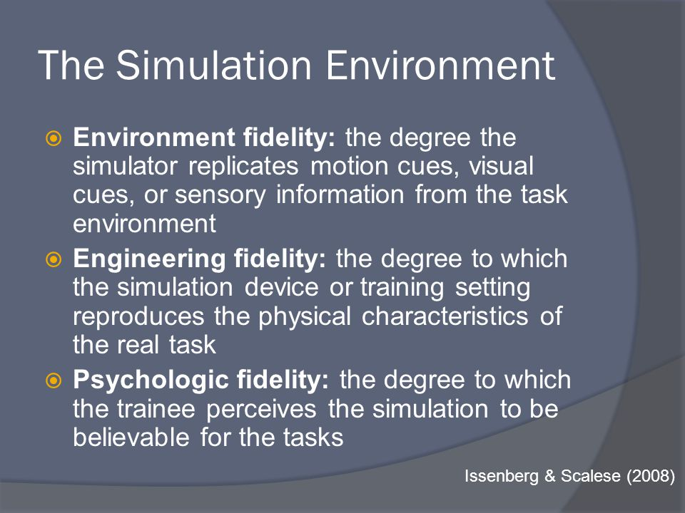 Simulation experience: More is More McGaghie, Issenberg, Petrusa, & Scalese (2006):
