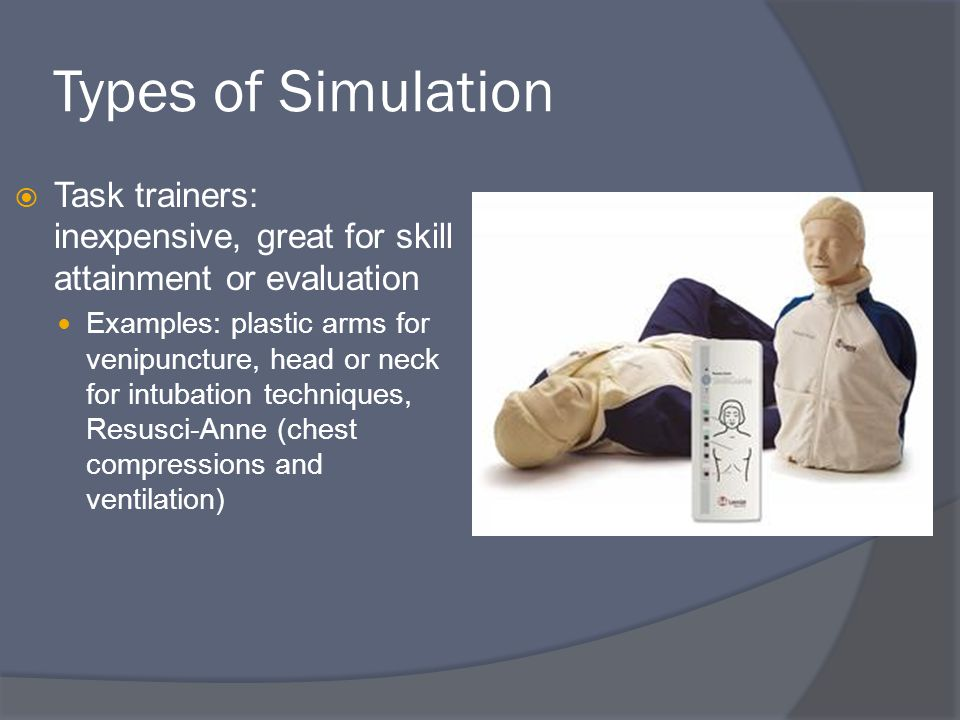 The Creation of a Simulation 7.The age of the patient: A 65 year old female 8.