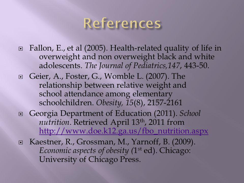  Fallon, E., et al (2005).