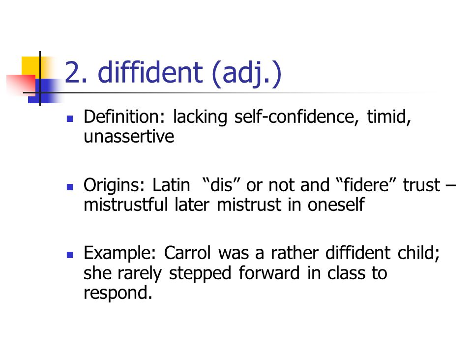 Perfect Diffident Definition