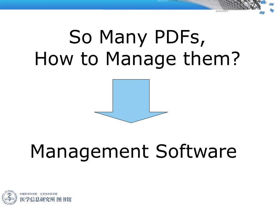 So Many PDFs, How to Manage them Management Software