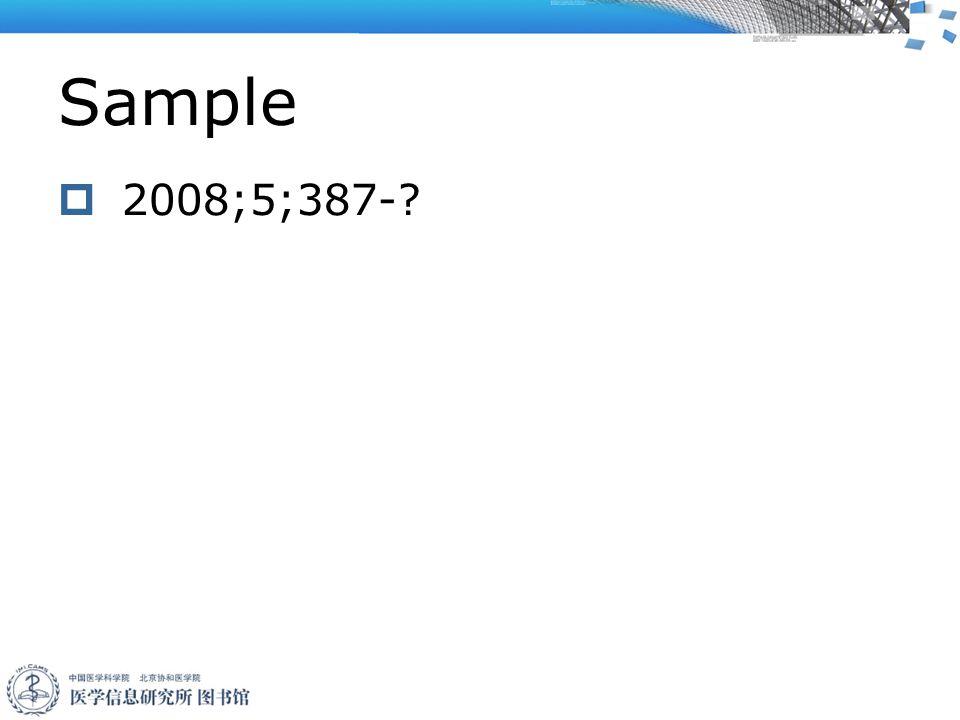 Sample  2008;5;387-