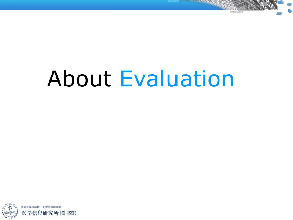 About Evaluation