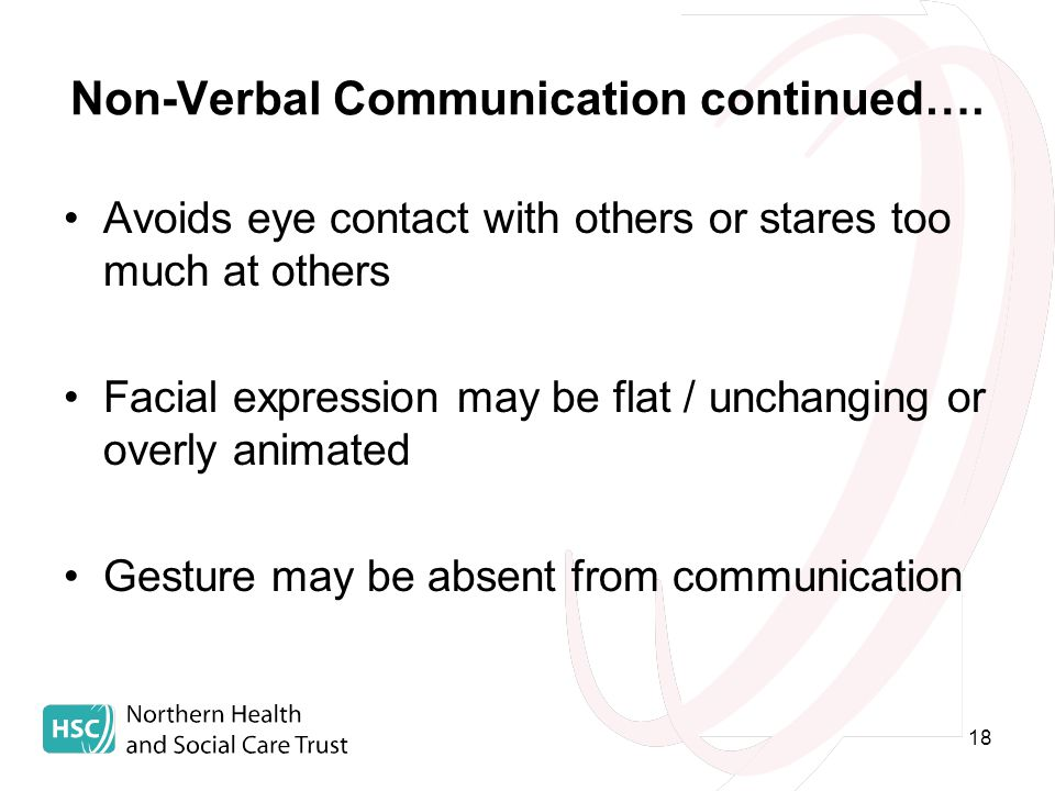 18 Non-Verbal Communication continued….