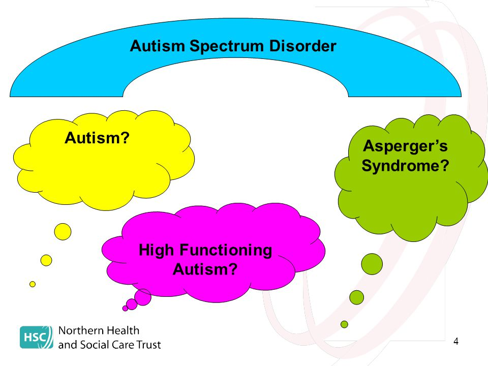 4 Autism Asperger's Syndrome High Functioning Autism Autism Spectrum Disorder