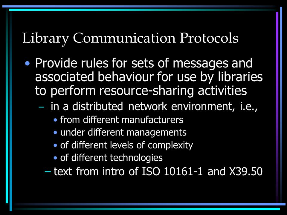 Directory Issues for Canadian Libraries Canadian model of ILL directory –What data elements and services are required.