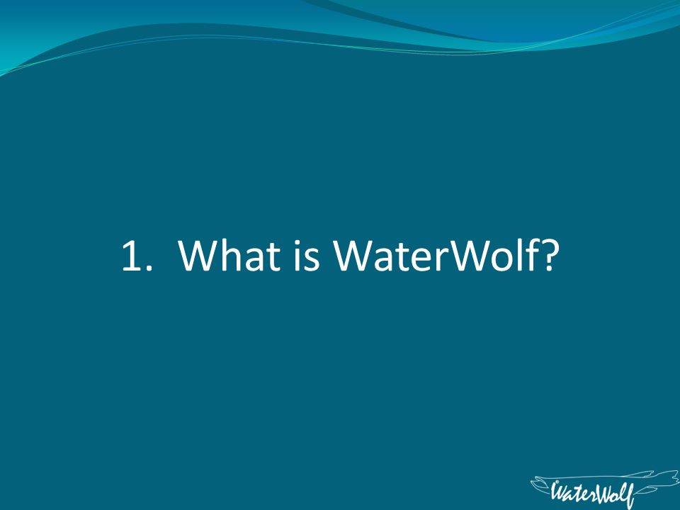 1. What is WaterWolf