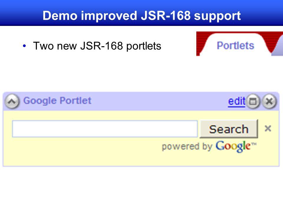 Demo improved JSR-168 support Two new JSR-168 portlets