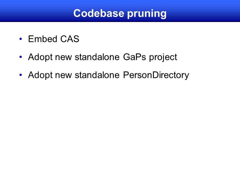 Codebase pruning Embed CAS Adopt new standalone GaPs project Adopt new standalone PersonDirectory