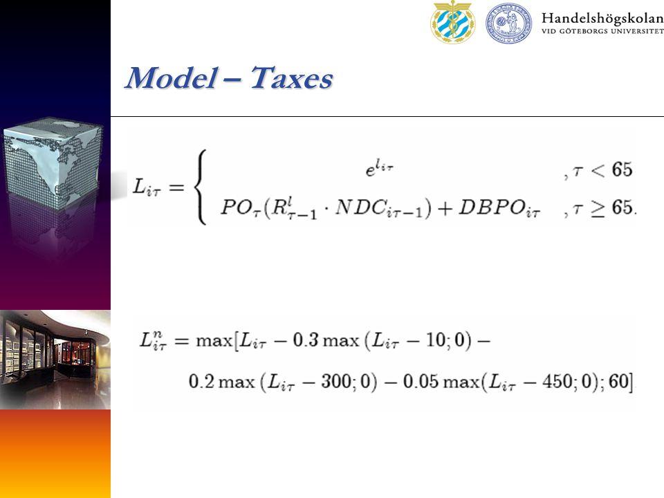 Model – Taxes