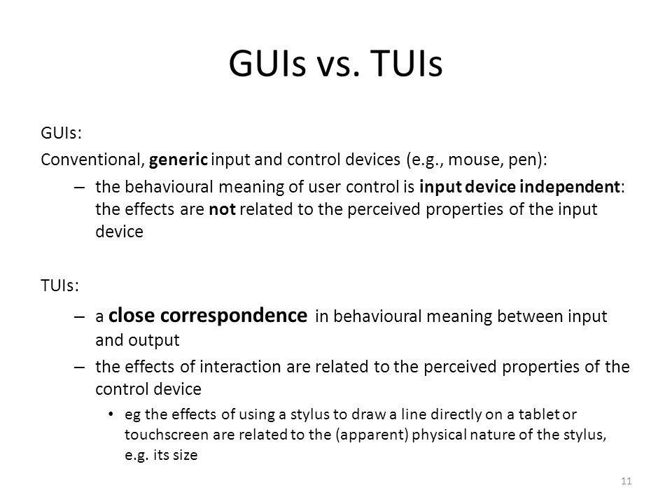 11 GUIs vs.