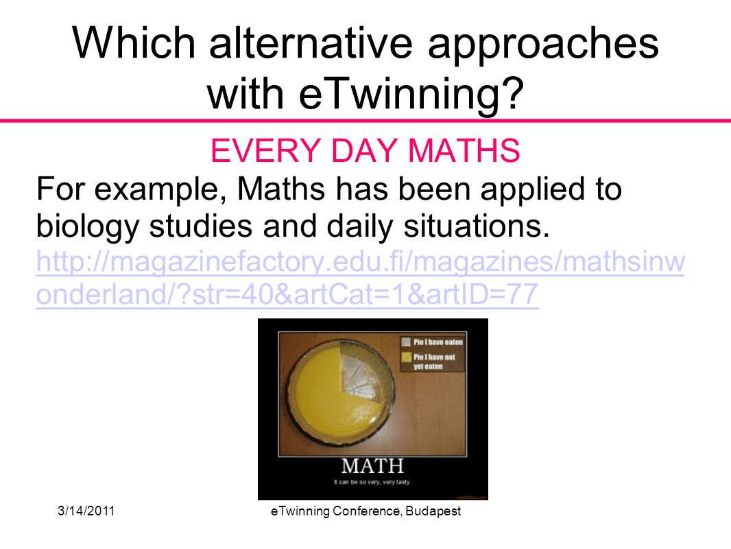 3/14/2011eTwinning Conference, Budapest PERSONAL/DIFFERENT SOLUTIONS Maths games are a wonderful resource.