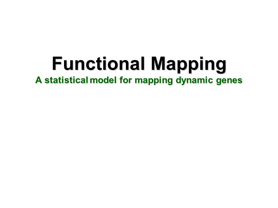 Functional Mapping A statistical model for mapping dynamic genes