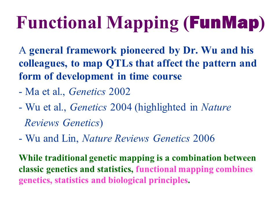 A general framework pioneered by Dr.