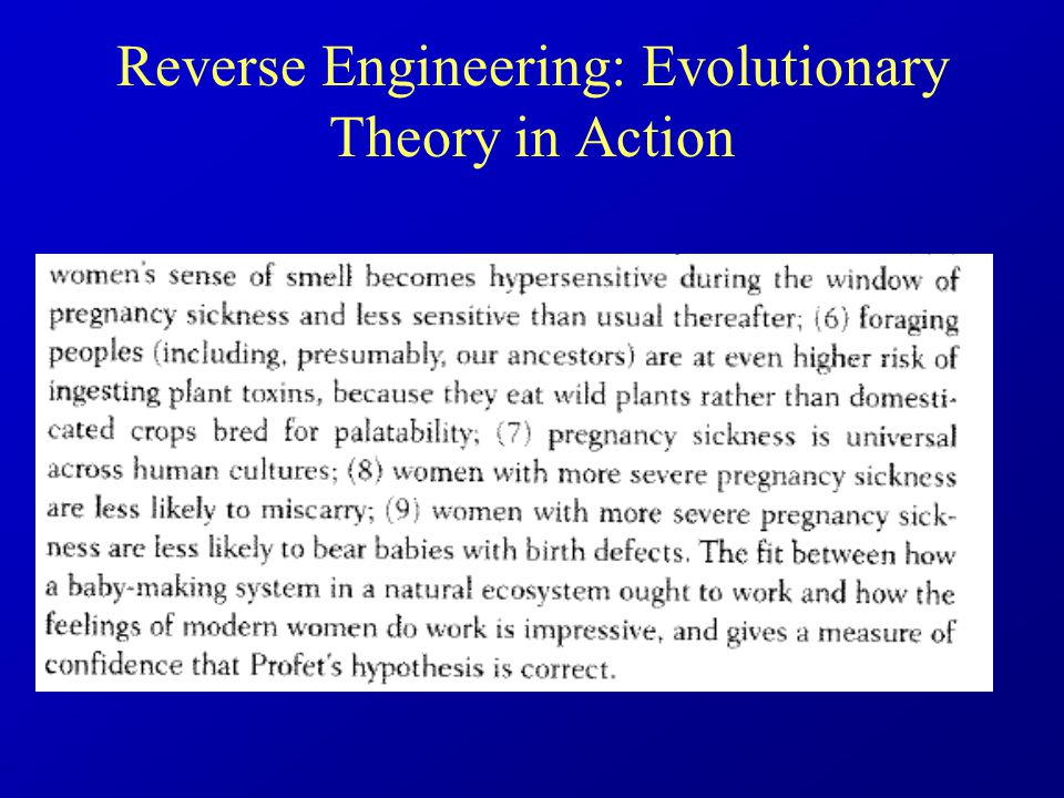 Reverse Engineering: Evolutionary Theory in Action