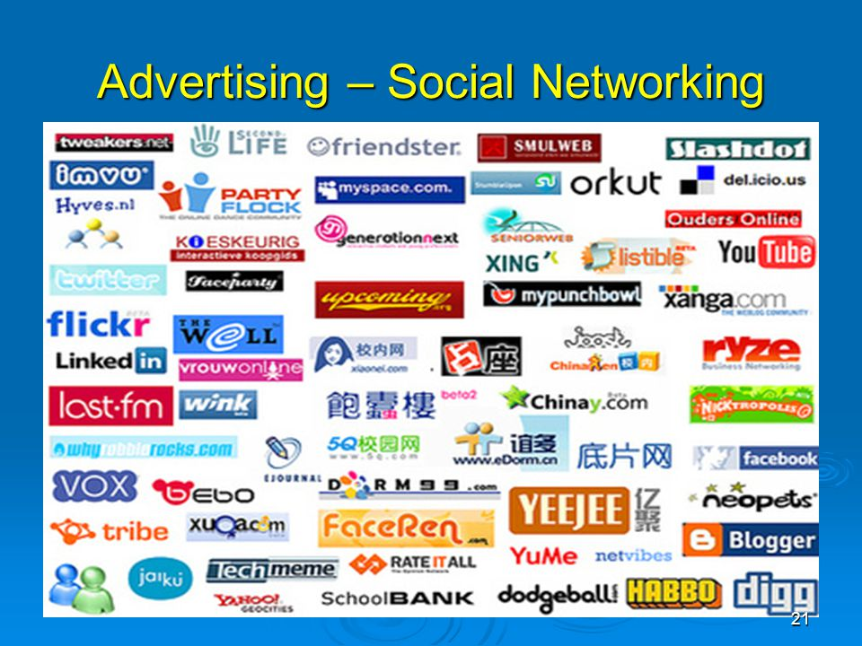 Advertising – Social Networking 21