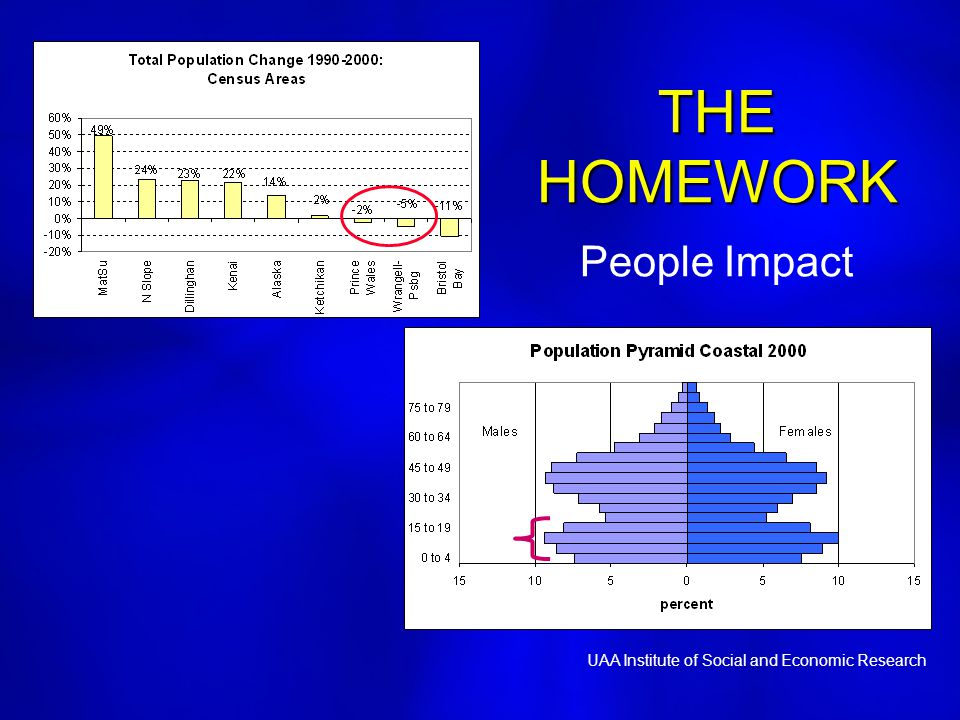 THE HOMEWORK THE HOMEWORK People Impact UAA Institute of Social and Economic Research