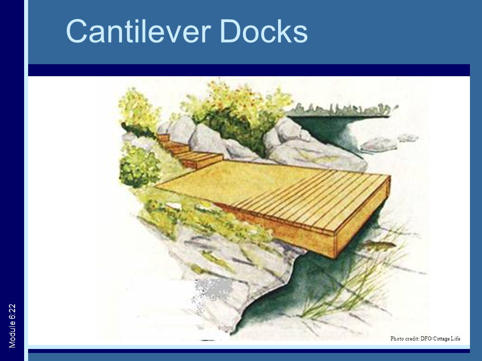 Cantilever Docks Module 6:22 Photo credit: DFO/Cottage Life