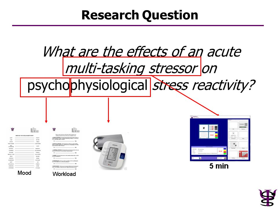 What are the effects of an acute multi-tasking stressor on psychophysiological stress reactivity? Research Question