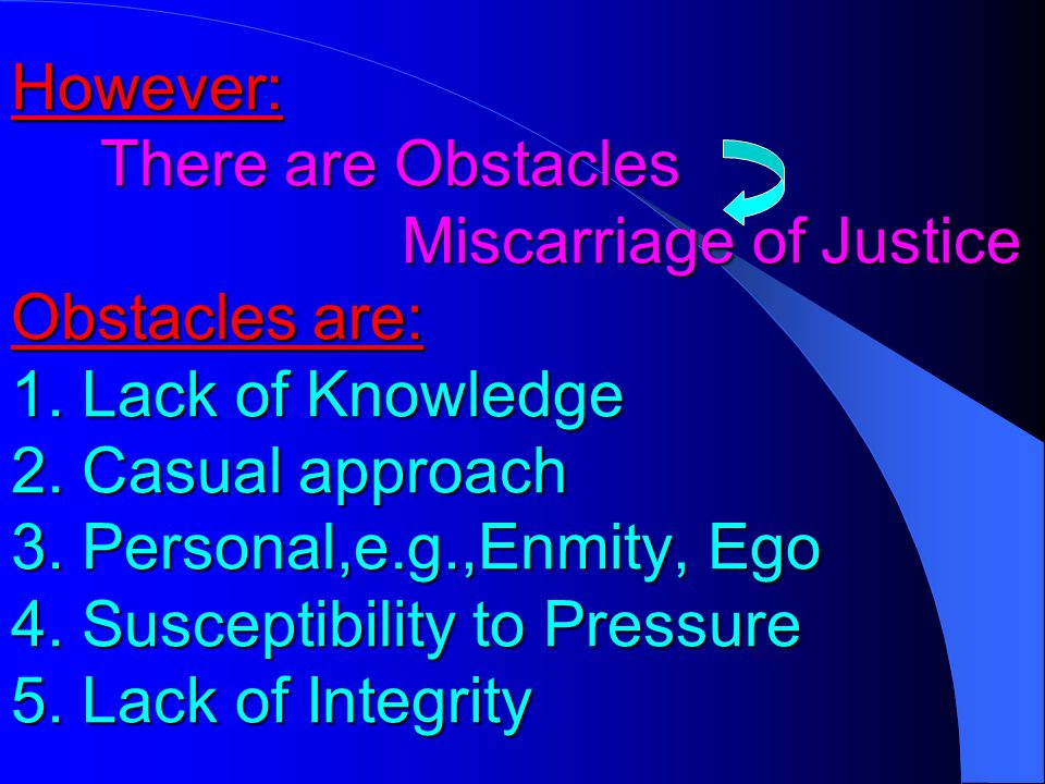 As a, our duty is to help the cause of Justice justice Helping attitude towards Justice Objective,effective Presentation Objective,Accurate collection Of Data Objective and Thorough analysis Of Data