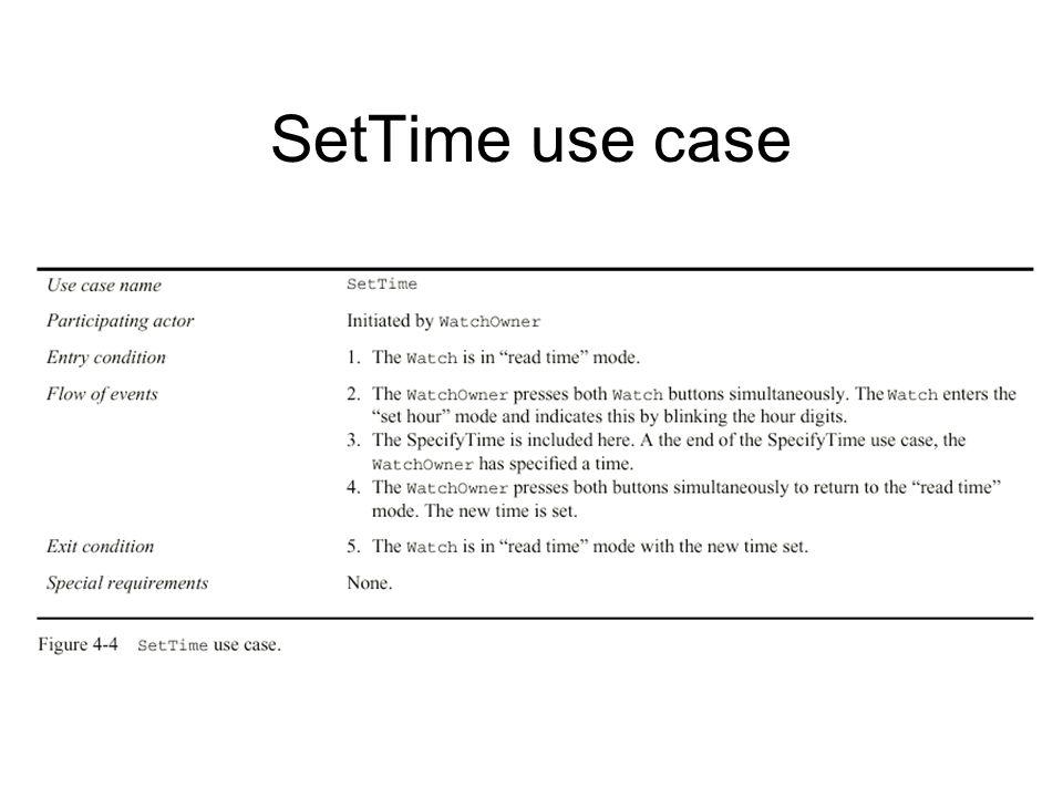 SetTime use case