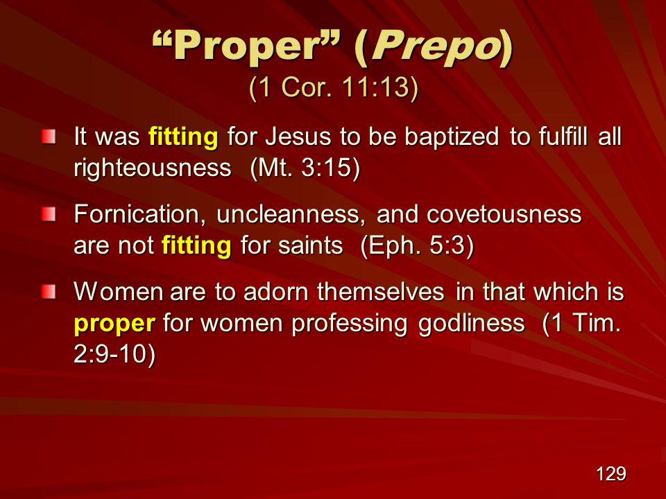 129 Proper (Prepo) (1 Cor.