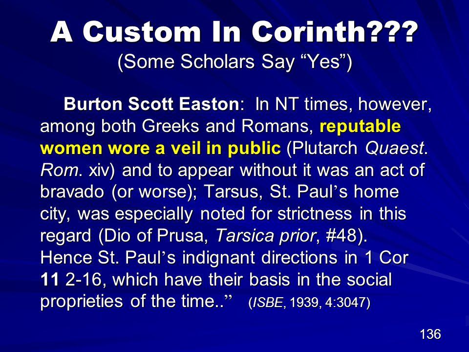 136 A Custom In Corinth .