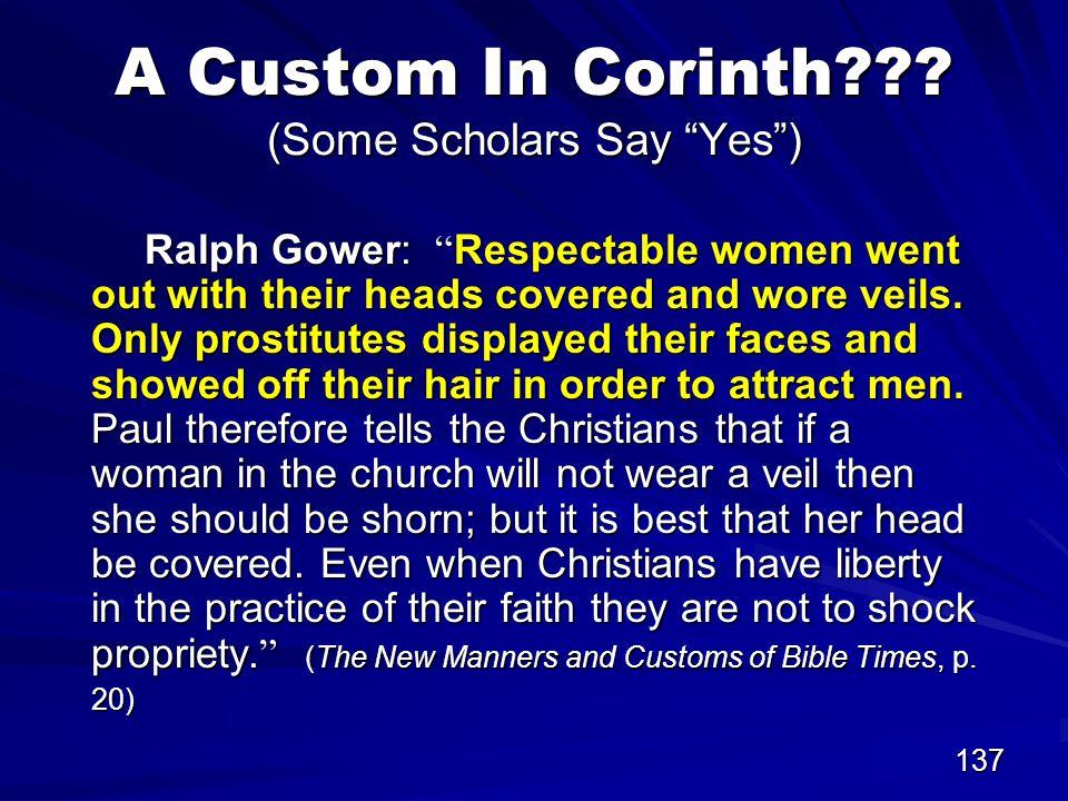 137 A Custom In Corinth .