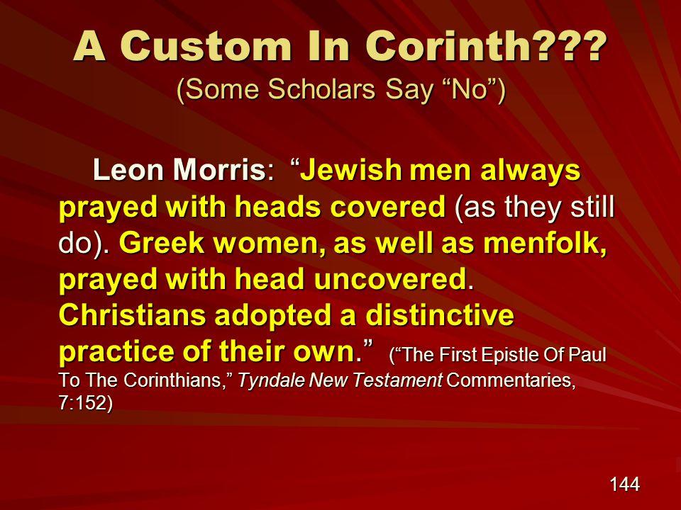 144 A Custom In Corinth .