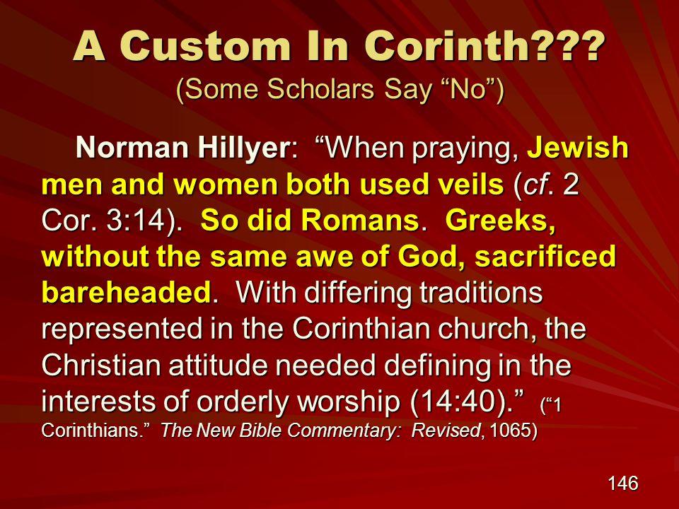 146 A Custom In Corinth .