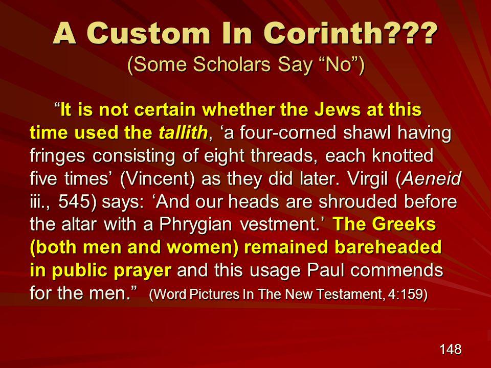 148 A Custom In Corinth .