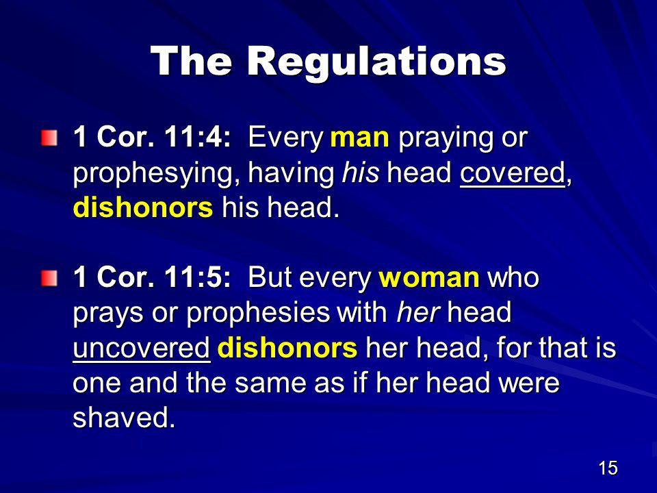 15 The Regulations 1 Cor.
