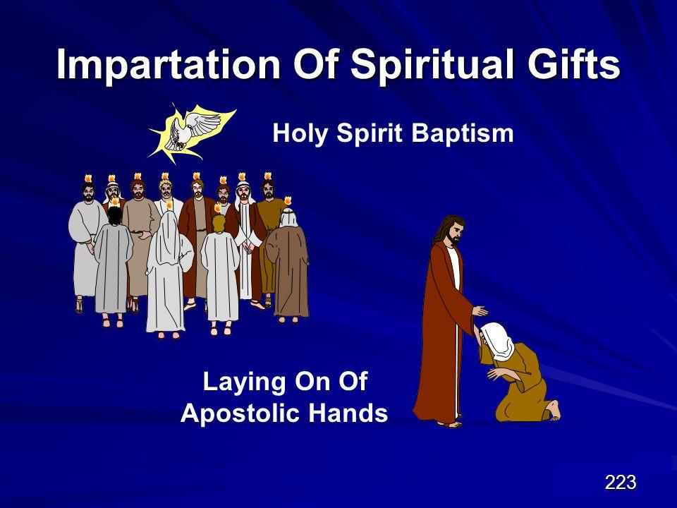 223 Impartation Of Spiritual Gifts Holy Spirit Baptism Laying On Of Apostolic Hands