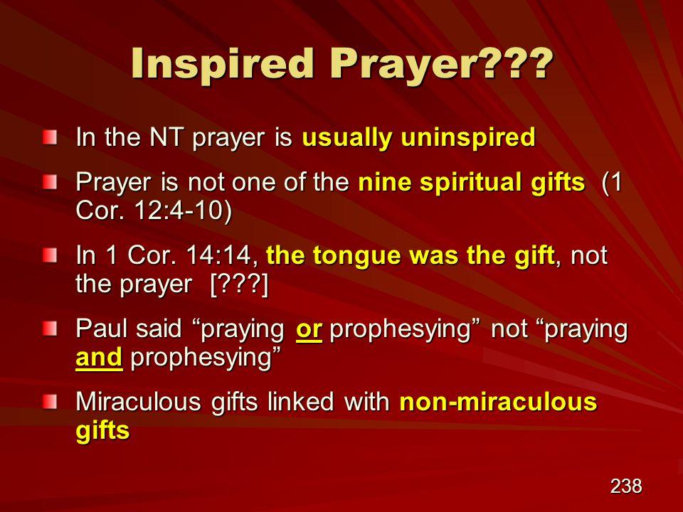 238 Inspired Prayer .