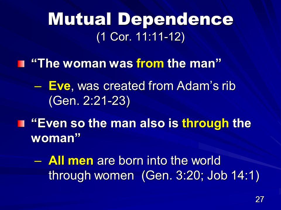 27 Mutual Dependence (1 Cor.