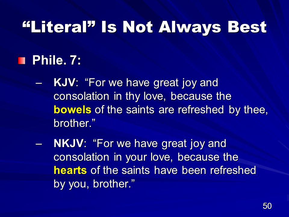 50 Literal Is Not Always Best Phile.