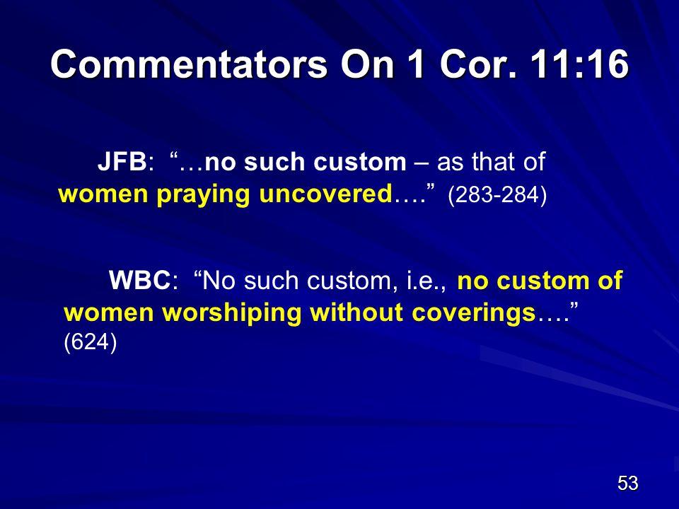 53 Commentators On 1 Cor.