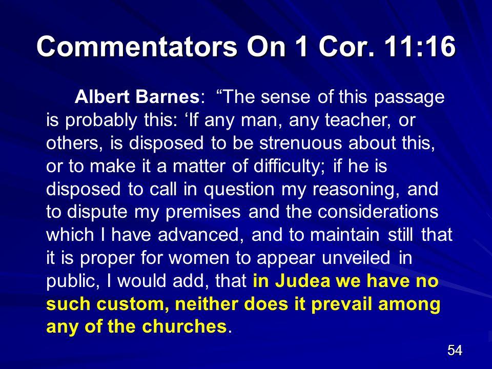 54 Commentators On 1 Cor.