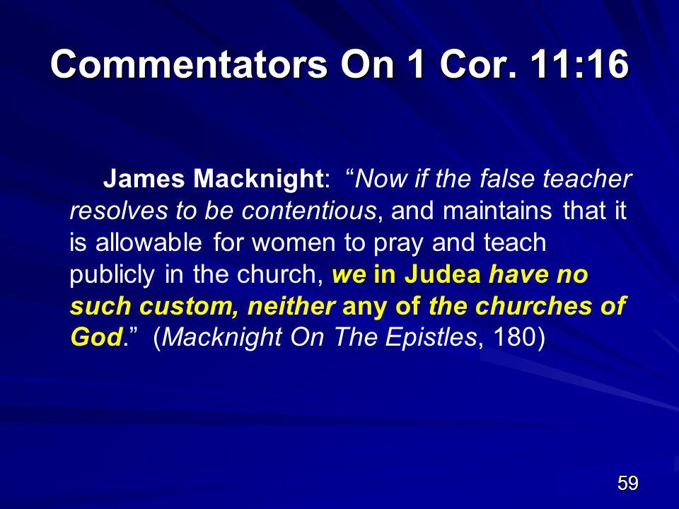 59 Commentators On 1 Cor.