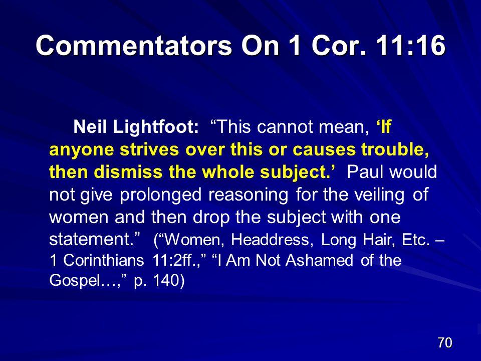 70 Commentators On 1 Cor.