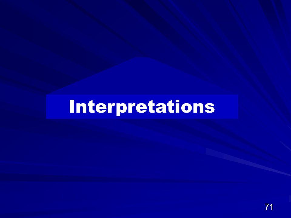71 Interpretations