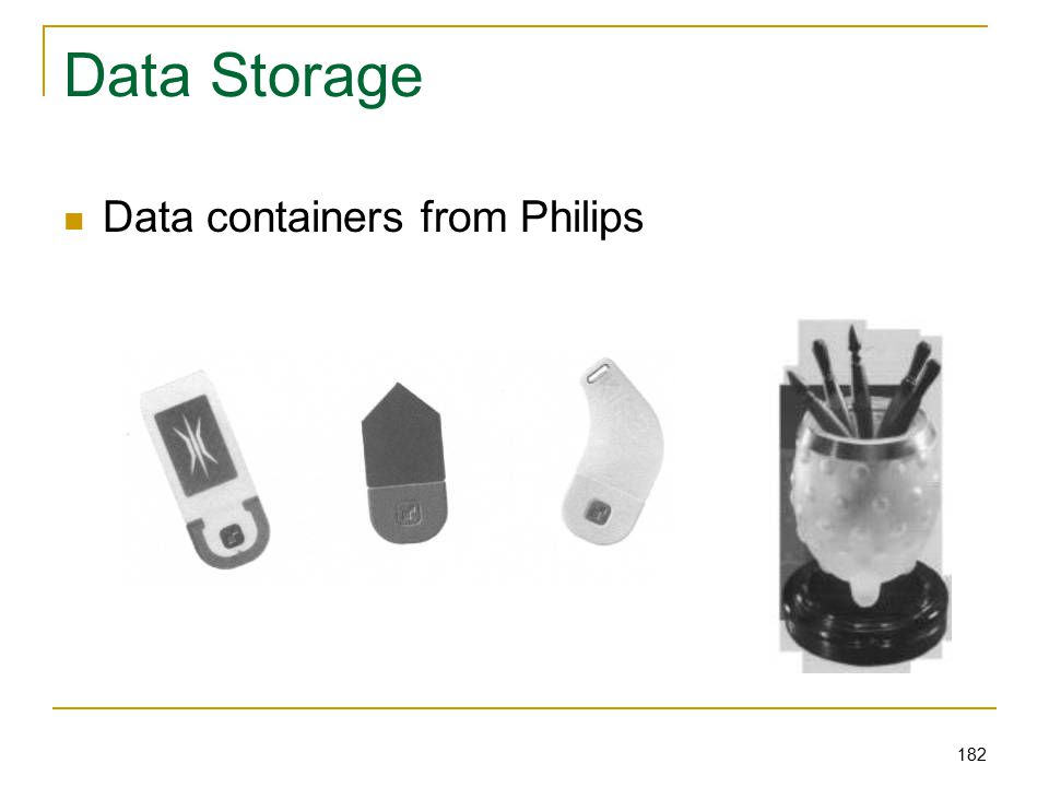 182 Data Storage Data containers from Philips