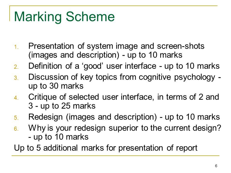 6 Marking Scheme 1.