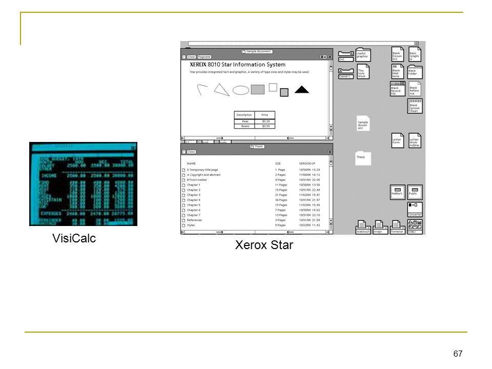 67 VisiCalc Xerox Star