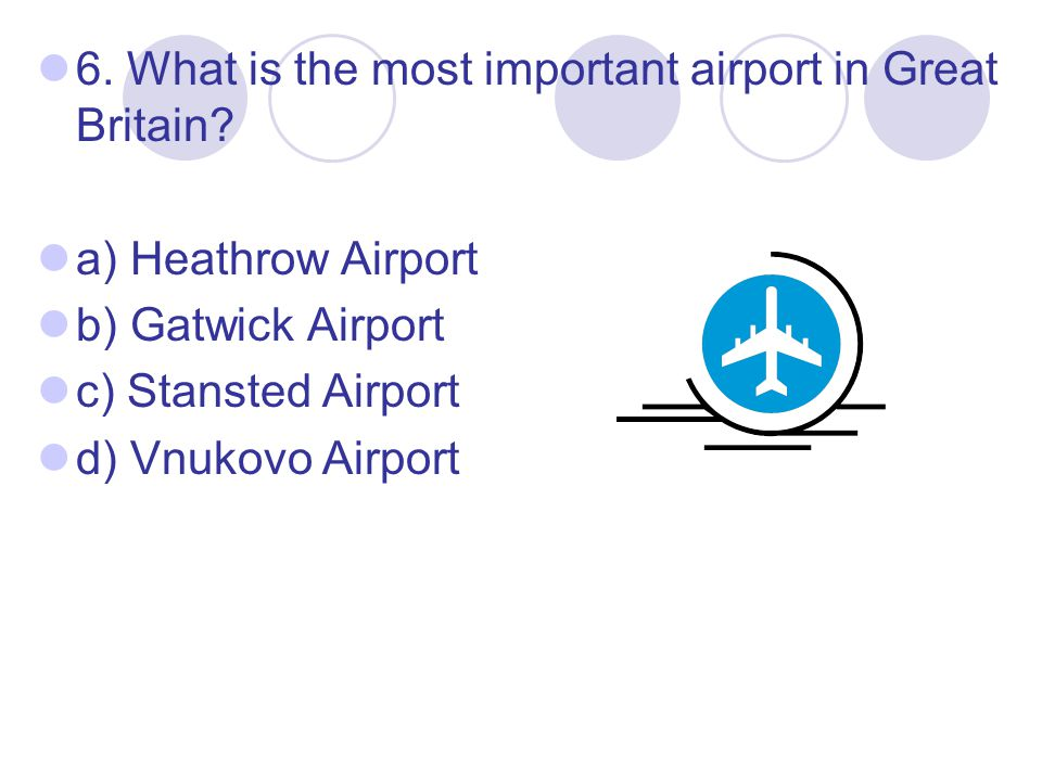 6. What is the most important airport in Great Britain.