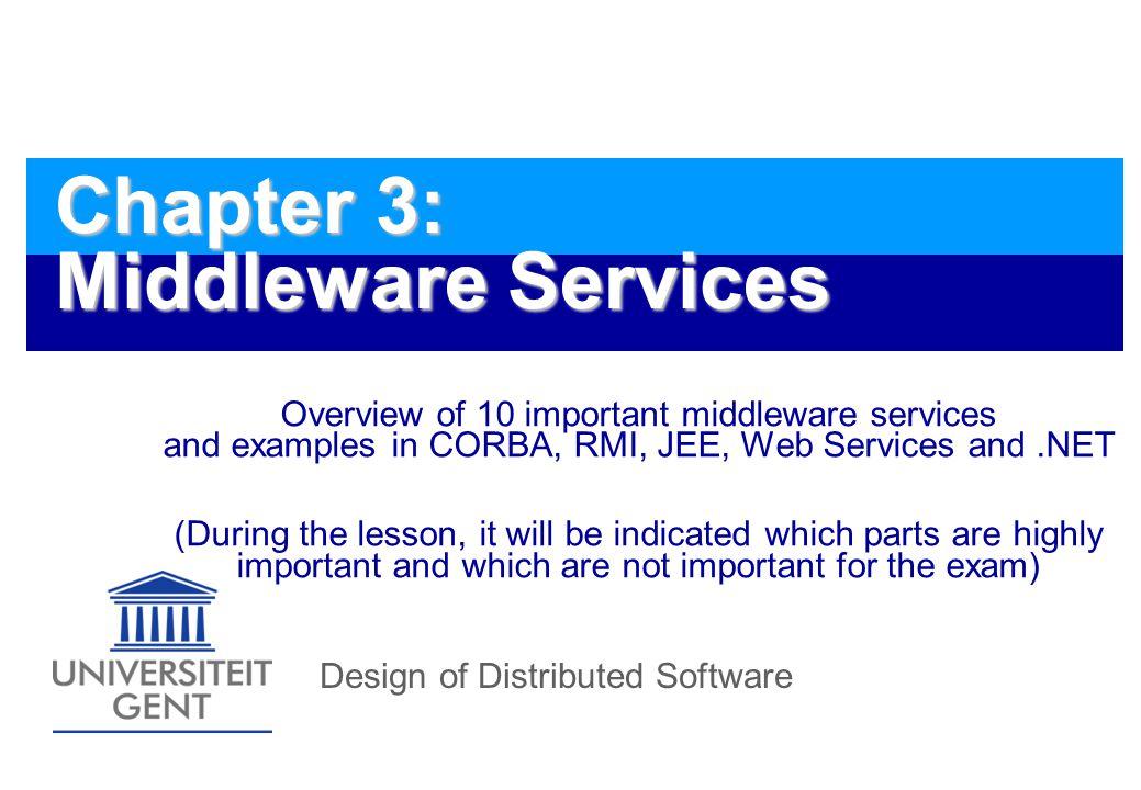 Design of Distributed Software172 CMP design: different steps 1.
